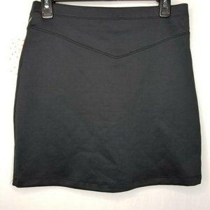 Free People Skirts - Free People Black Ponte Knit Mini Skirt Scuba